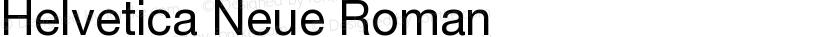 Helvetica Neue Roman Preview Image