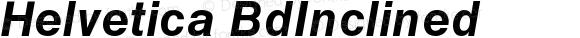 Helvetica BdInclined