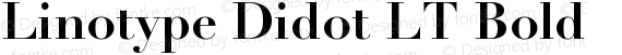 Linotype Didot LT Bold preview image