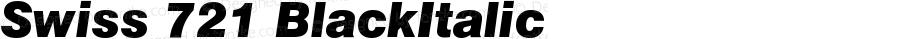Swiss 721 Black Italic