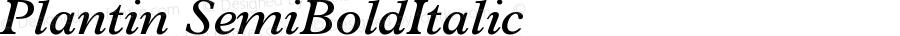 Plantin SemiBoldItalic Version 1