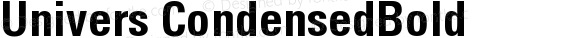 Univers 67 Condensed Bold