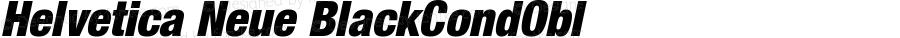 Helvetica Neue BlackCondObl Version 001.000