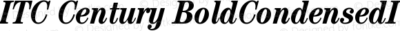 ITC Century BoldCondensedItalic