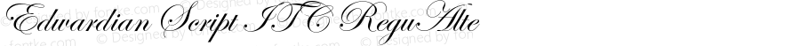 Edwardian Script ITC ReguAlte Version 001.005