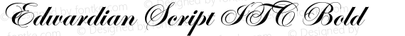 Edwardian Script ITC Bold preview image