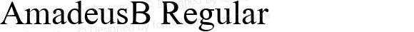 AmadeusB Regular Glyph Systems 21-July-95