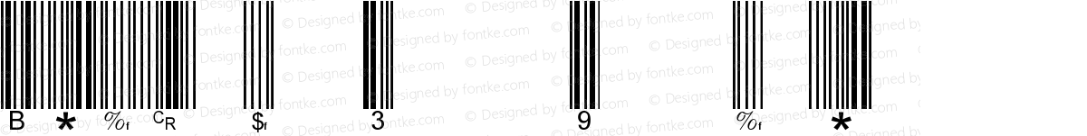 Barcode 3 of 9 normal