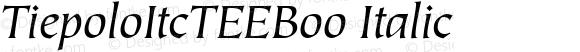 TiepoloItcTEEBoo Italic Version 001.005