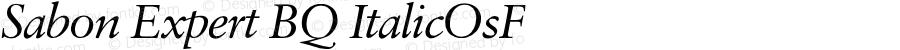 Sabon Expert BQ ItalicOsF Version 001.000
