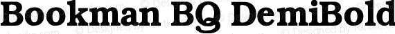 Bookman BQ DemiBold preview image