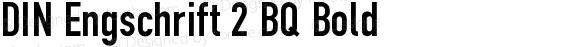 DIN Engschrift 2 BQ Bold preview image