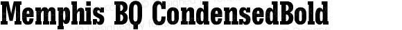 Memphis BQ CondensedBold