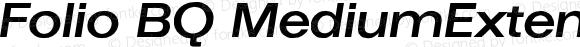 Folio BQ MediumExtendedItalic