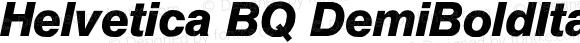 Helvetica BQ DemiBoldItalic
