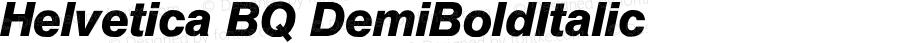 Helvetica BQ DemiBoldItalic Version 001.000