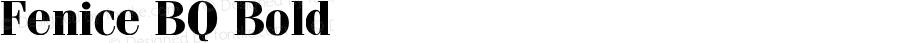 Fenice BQ Bold Version 001.000
