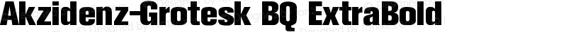 Akzidenz-Grotesk BQ ExtraBold Preview Image