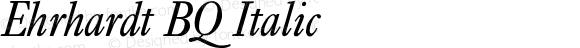 Ehrhardt BQ Italic Version 001.000