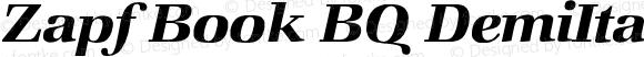 Zapf Book BQ DemiItalic