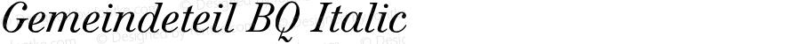 Gemeindeteil BQ Italic Version 001.000