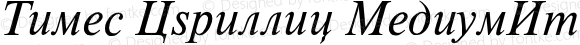 Times Cyrillic MediumItalic Version 001.000