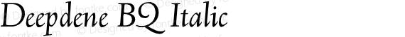 Deepdene BQ Italic preview image