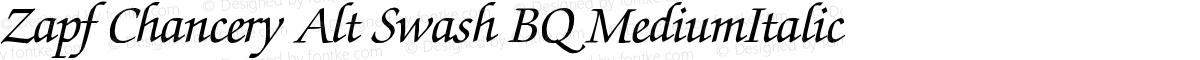 Zapf Chancery Alt Swash BQ MediumItalic