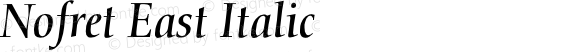 Nofret East Italic preview image