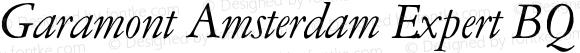 Garamont Amsterdam Expert BQ ItalicOsF Version 001.000