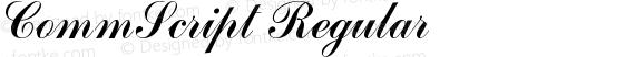 CommScript Regular preview image