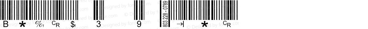 Barcode 3 of 9 Italic