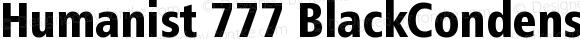Humanist 777 BlackCondensedB