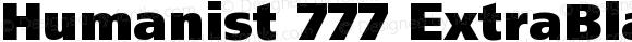 Humanist 777 ExtraBlackB