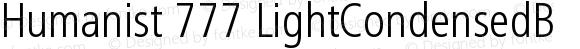Humanist 777 LightCondensedB