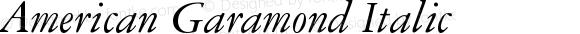 American Garamond Italic Version 003.001