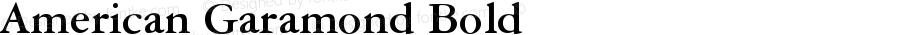 American Garamond Bold Version 003.001