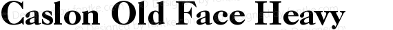 Caslon Old Face Heavy preview image