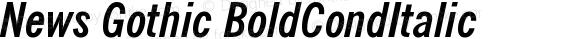 News Gothic BoldCondItalic