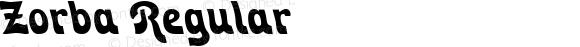 Zorba Regular Macromedia Fontographer 4.1.4 2/28/00