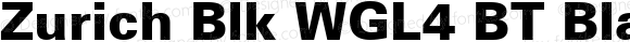 Zurich Blk WGL4 BT Black Version 2.00 Bitstream WGL4 Set