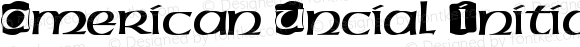 American Uncial Initials D Regular Version 001.005