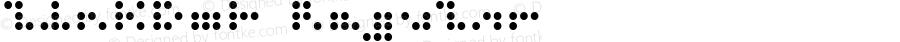 ZinkDot Regular Macromedia Fontographer 4.1.5 2/15/02