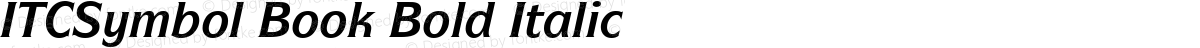 ITCSymbol Book Bold Italic