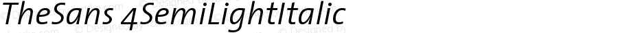 TheSans 4 SemiLight Italic