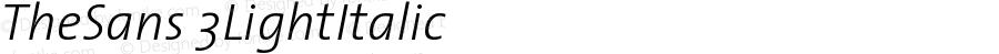 TheSans 3 Light Italic