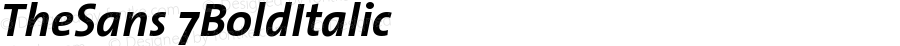 TheSans 7 Bold Italic