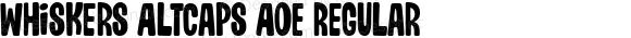 Whiskers AltCaps AOE Regular Macromedia Fontographer 4.1.2 11/26/02