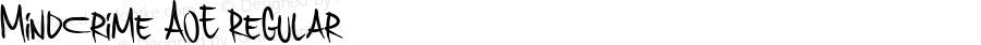 MindCrime AOE Regular Macromedia Fontographer 4.1.2 11/26/02