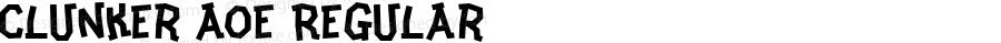 Clunker AOE Regular Macromedia Fontographer 4.1.2 8/8/99